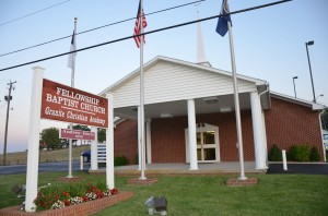 The front of Fellowship Baptist Church